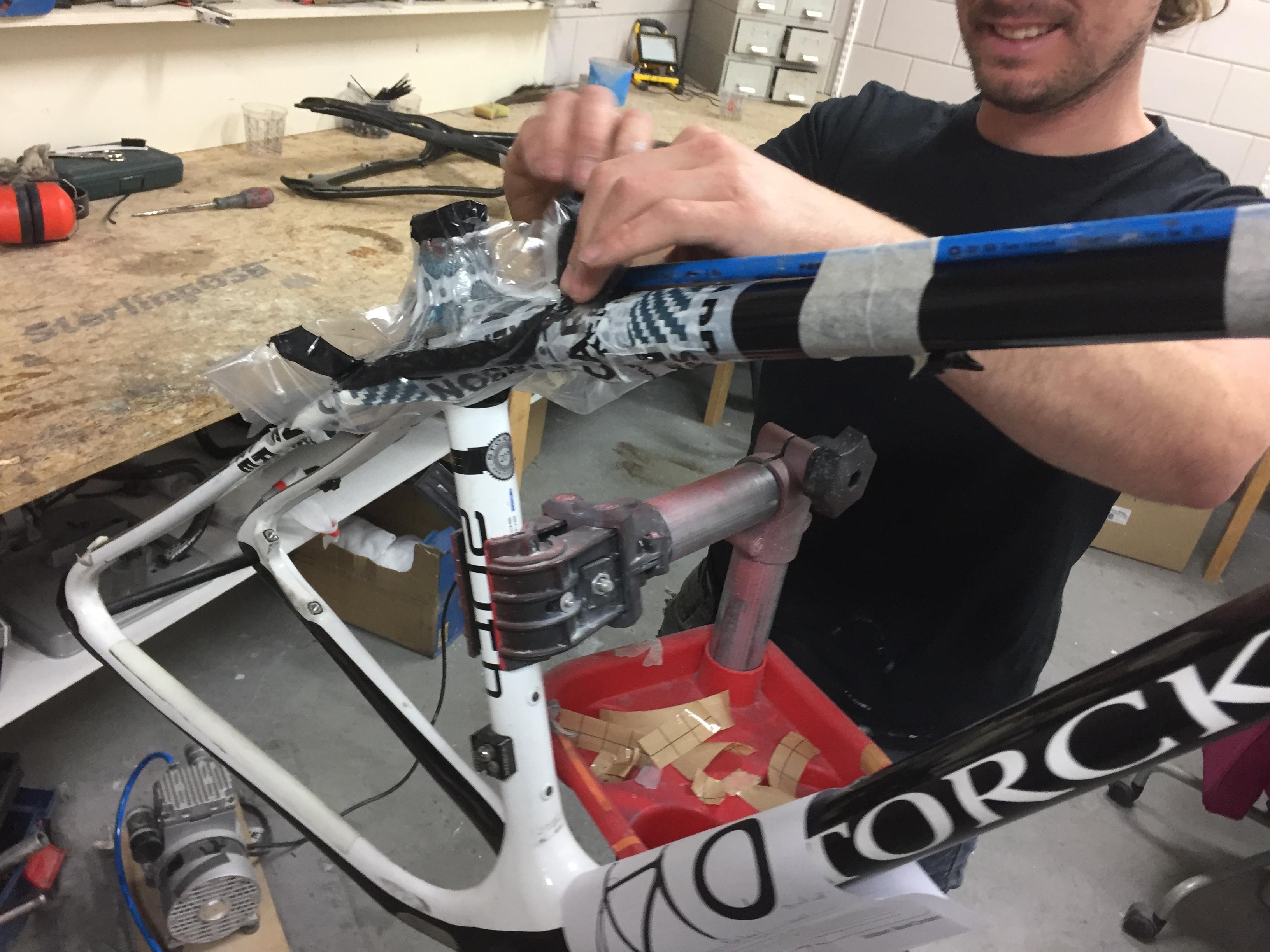 carbon reparatie fiets