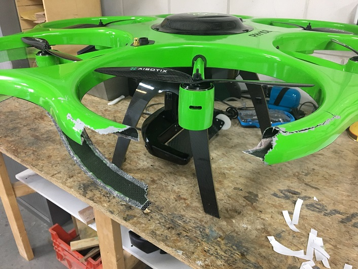 drone reparatie kleiner